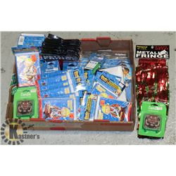 LARGE FLAT OF KIDS PARTY SUPPLIES