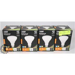 4 NEW FEIT ENHANCE SOFT WHITE LED LIGHT BULBS