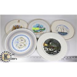 LOT OF ASSORTED COLLECTORS PLATE, WINTER SCENES