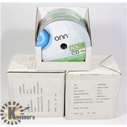 3 CASES 60 ONN CD-RW DISCS (12X, 700MB/MO, 80 MIN)