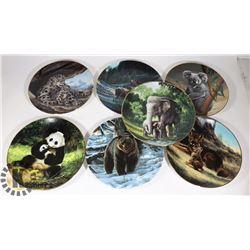 SET OF 7 ANIMAL DECORATIVE PLATES (1988/89)