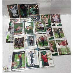 COLLECTION OF GOLF CARDS WITH MANY ROOKIES