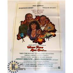 """1978 ORIGINAL MOVIE POSTER """"WHEN TIME RAN OUT"""""""