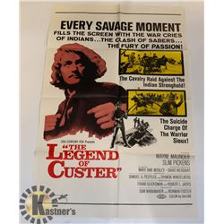 "1968 ORIGINAL MOVIE POSTER ""LEGEND OF CUSTER"""