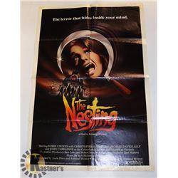 """1980 ORIGINAL MOVIE POSTER """"THE NESTING"""" HORROR"""