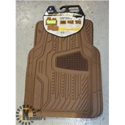 NEW SET OF GOODYEAR FLOOR MAT LIGHT BROWN
