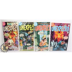 (4) FORTY YR OLD 40 CENT COMICS - THE UNEXPECTED