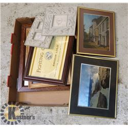 BOX OF MISC PICTURES