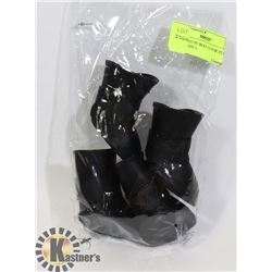 NEW SILICON BOOTS FOR PETS - BLACK SIZE L