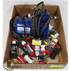 HOBBY PAINT SPRAYER KIT WITH SOME PAINT