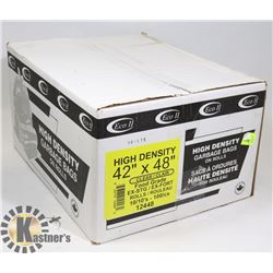 """CASE OF 42"""" X 48"""" CLEAR FOOD GRADE GARBAGE BAGS"""