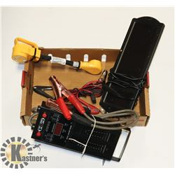 FLAT WITH BATTERY TESTER, SOLAR CHARGER, AND