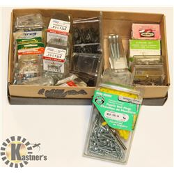 FLAT OF ASSORTED DRYWALL NAILS AND SCREWS