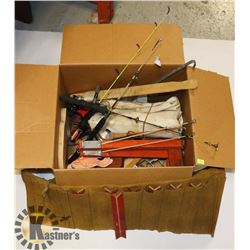 BOX OF ASSORTED ICE FISHING LOTS