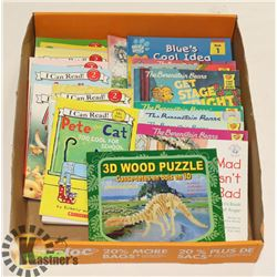 11 -I CAN READ BOOKS, 3D WOOD PUZZLE ,DVD,BOOKS