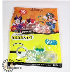 BAG OF 50 DISNEY GUMMY CANDY SOLD WITH BAG OF 50