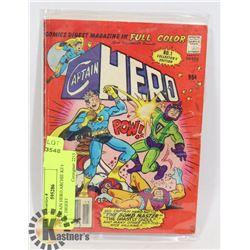 # 1 CAPTAIN HERO ARCHIE KEY COMIC DIGEST