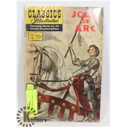 CLASSIC ILLUSTRATED JOAN OF ARC COMIC #78