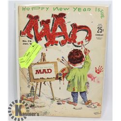 MAD # 76 KEY ISSUE 1ST ARAGONE'S ART FOR MAD