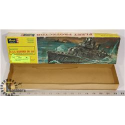 1962 REVELL USS RADFORD DD 446 MODEL BOX ONLY