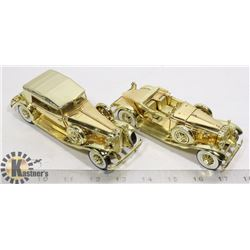 2 X MAISTO PLATED 1/32 DIE CAST CARS LIMITED ED.