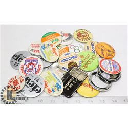 COLLECTION OF PINBACK BUTTONS NINTENDO MORE