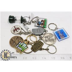 COLLECTION OF KEY CHAINS NHL COLEMAN TEXACO