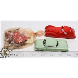 3 X 1950'-1960'S COLLECTORS PLASTIC CARS