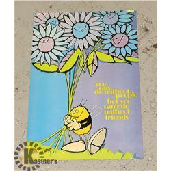 "22"" X 15"" 1970'S HAPPY PEACE FRIEND POSTER"