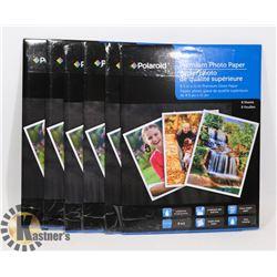 6 PACKS OF POLAROID PREMIUM 8.5X11 PHOTO PAPER
