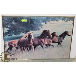 ESTATE FRAMED HORSE PICTURE