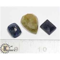 #180-YELLOW/ BLUE SAPPHIRE GEMSTONE 79.70ct