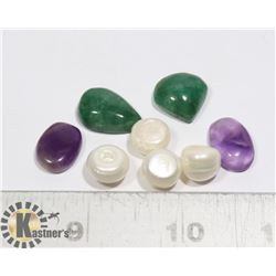 #160-EMERALD/ AMETHYST/ FRESH WATER PEARL
