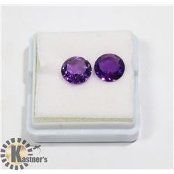 #32-PURPLE AMETHYST GEMSTONE ROUND 3.5ct