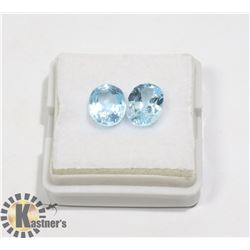 #56-SKY BLUE TOPAZ GEMSTONE OVAL  5.00CT