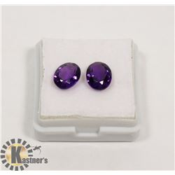 #79-PURPLE AMETHYST GEMSTONE OVAL 3.45ct