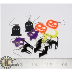 6 PAIRS OF ASSORTED HALLOWEEN THEME EARRINGS