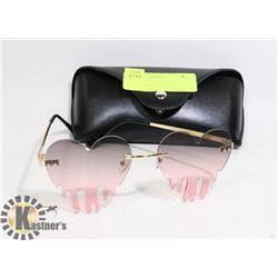 NEW BLEEDING HEART SHAPE SUNGLASSES WITH CASE