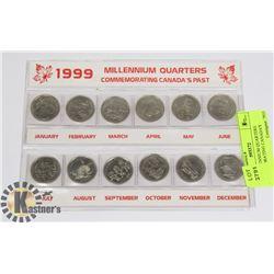 1999 MILLENNIUM QUARTERS COMMEMORATING CANADA'S