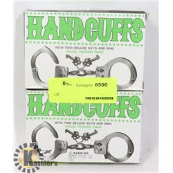TWO NEW HANDCUFFS WITH KEYS