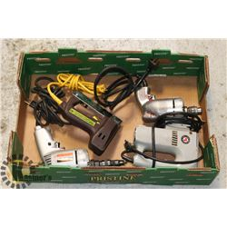 FLAT OF ASSORTED POWER TOOLS INCLUDING