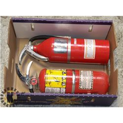 LOT OF 2 FIRE EXTINGUISHERS FOR CLASS A,B &C FIRES