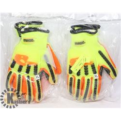 2 NEW PAIR OF SAFETY GLOVES