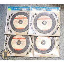 LOT OF 4 METAL/ GRINDING DISCS