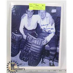 NHL TORONTO MAPLE LEAFS GOALIE HOF 76 JOHNNY BOWER