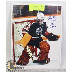 NHL EDMONTON OILERS GOALIE RON LOW SIGNED PHOTO