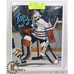 NHL EDMONTON OILERS GOALIE HOF 03 GRANT FUHR SIGNE