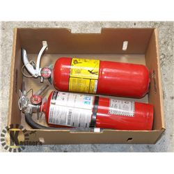LOT OF 2 FIRE EXTINGUISHERS FOR CLASS A,B & C FIRES