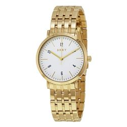 NEW DKNY WHITE DIAL GOLD TONE 36MM MSRP $230