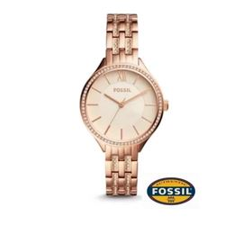 NEW FOSSIL 3 HANDS ROSE-GOLD TONE 36MM MSRP $215